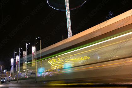 KU8C8498   Nottingham city centre long exposure of the Market square with the Nottingham Tram tram   Keywords: long exposure nottingham city centre tram movement market square fair ground rides austen blakemore photography christmas